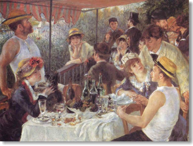 Le déjeuner des Canotiers (1881) - The phillips Collection, Washington (grand format: 150 K)